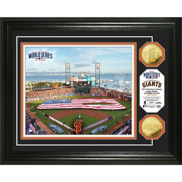 San Francisco Giants World Series Opening Ceremony Gold Coin Photo Mint
