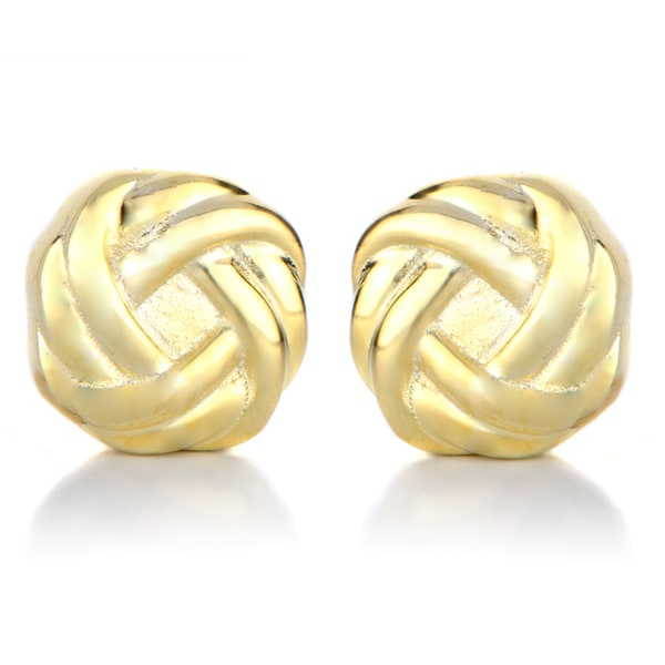 Gold Love Knot Magnetic Earrings