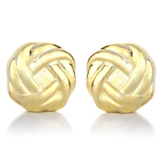 Gold Love Knot Magnetic Earrings