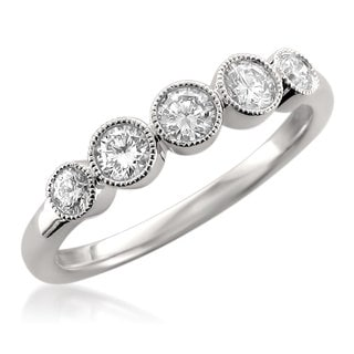 14k White Gold 1/2ct TDW Diamond Wedding Band (F-G, VS1)
