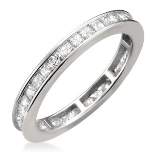 14k White Gold 1 3/8ct TDW Princess-cut Diamond Eternity Ring (H-I, SI2-S3)