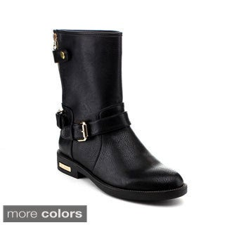 Reneeze Women's 'Janet-04' Buckled Mid-calf Rider Boots