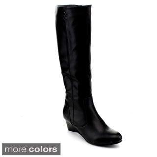 Reneeze Women's 'Julia-01' Knee-high Wedge Boots