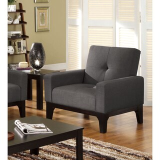 Furniture of America Charlie Charcoal Convertible Chair