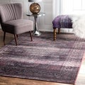 nuLOOM Oriental Vintage Viscose Persian Amethyst Area Rug (5'2 x 8')