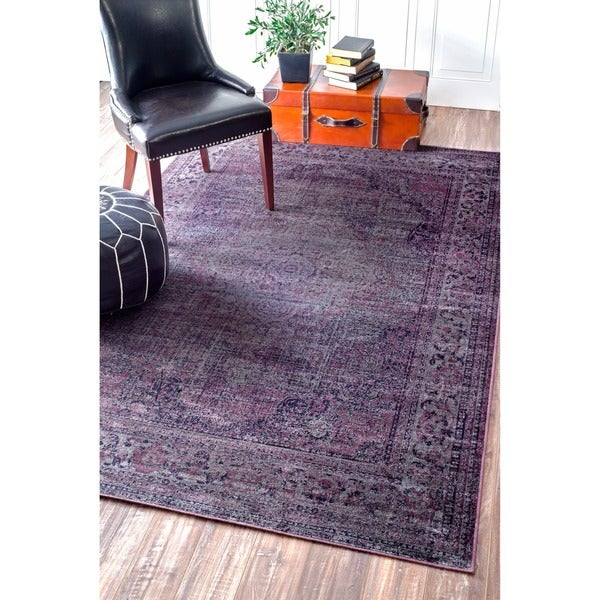 Purple Viscose Rug: Share: Email