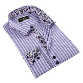 Banana Lemon Men's Purple Button-down Shirt