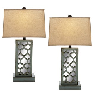 Casa Cortes Boheme Wood Table Lamp (Set of 2)