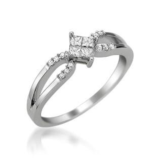 Brides Across America 14k White Gold 1/3ct TDW Diamond Promise Ring (H-I, SI2-SI3)
