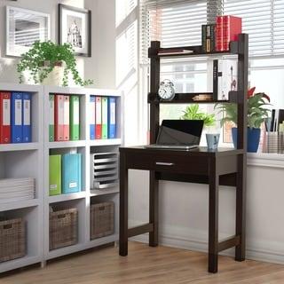 White 61 Inch Ladder Bookcase Drop Down Desk 14352721