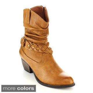 C-Label Hannah-6 Women's Slouchy Mid-Calf Riding Boots
