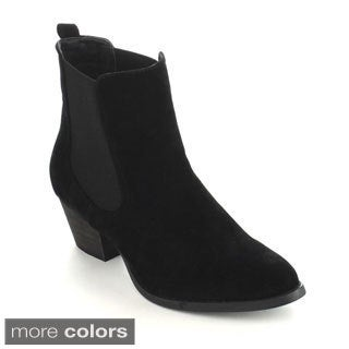 C-Label Hannah-1A Women's Elastic Side Panel Ankle Booties