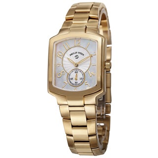 Philip Stein Women's 21GP-FW-SSGP 'Signature' Mother of Pearl Dial Goldtone Bracelet Watch