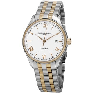 Frederique Constant Men's FC- 303WN5B3B 'Index' White Dial Two Tone Stainless Steel Watch