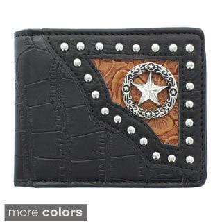 SS Fashion Men's Star Emblem Bi-fold Wallet with Flap