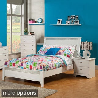 Sandberg Furniture Hailey White Panel Bed