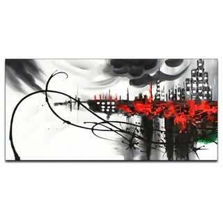 Dark City Cityscape Canvas Oil Painting