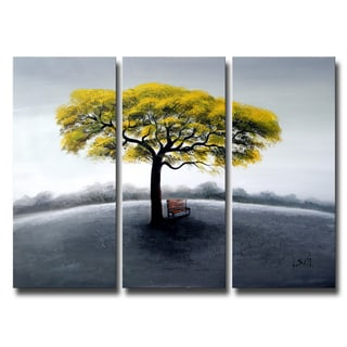 Tree in Solitude Large 3-piece Oil Canvas Painting