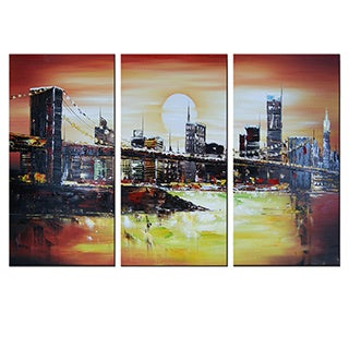 Sunrise in New York Oil Painting- 3-piece