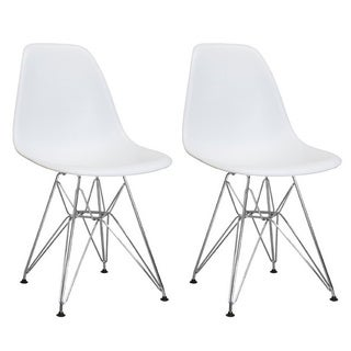 Mod Made Paris Tower Side Chair with Chrome Legs (Set of 2)