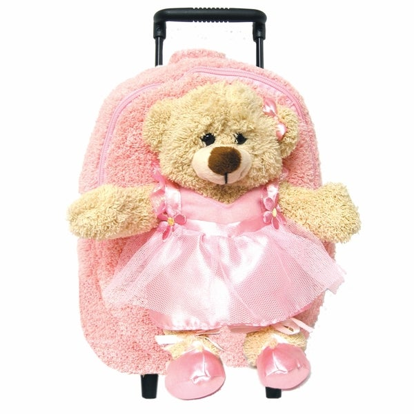 Best Buddy Pink Dancing Bear Rollerbag/ Backpack