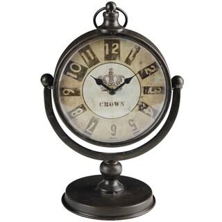 Windsor Round Antique Finish Table Clock