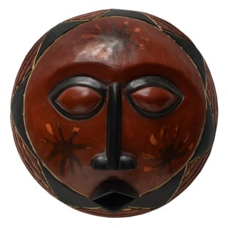 Hand-created Adepa Sun Mask (Ghana)