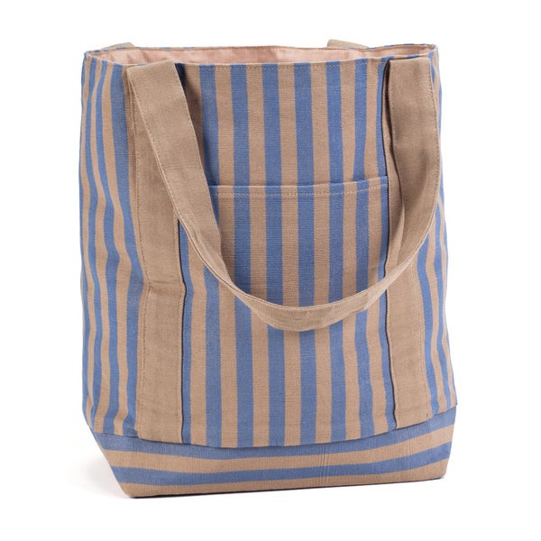 Hand Woven Stripe Cotton Large Tote Bag (Guatemala)