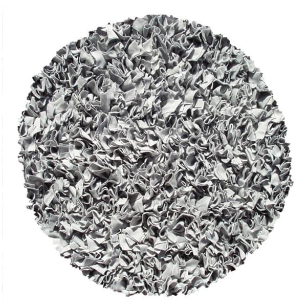 Shaggy Raggy Silver Rug (4' Round)