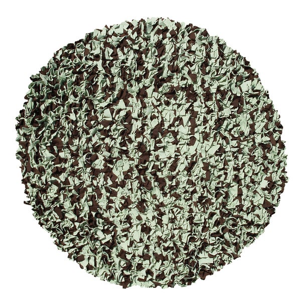 Shaggy Raggy Sage/ Brown Rug (4' Round)
