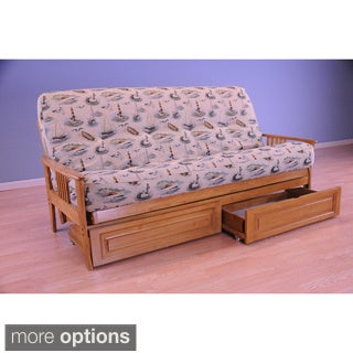 Christopher Knight Home Capri Butternut Futon with Storage Drawers