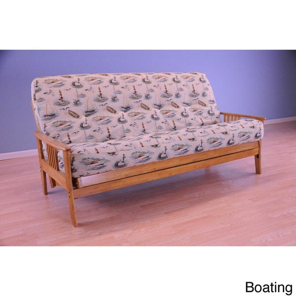 Christopher Knight Home Capri Butternut Frame Futon with Mattress