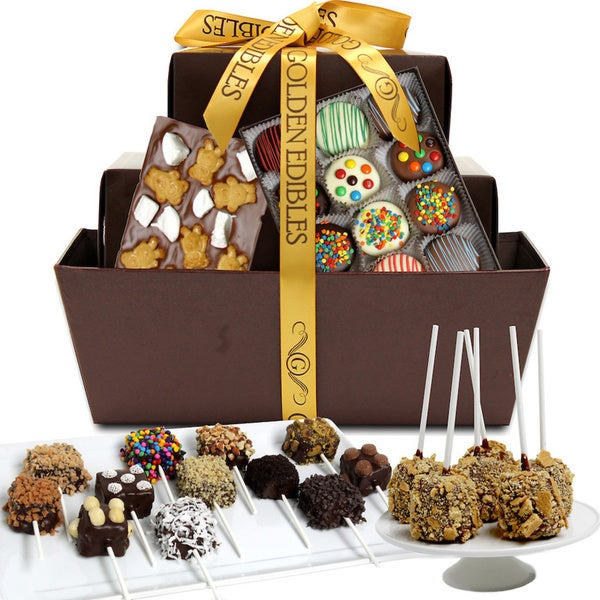 Extraordinary Belgian Chocolate Covered Gift Basket (31 Pieces)