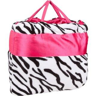 OC Daisy Zebra Print Napbag Travel Blanket and Pillow Set