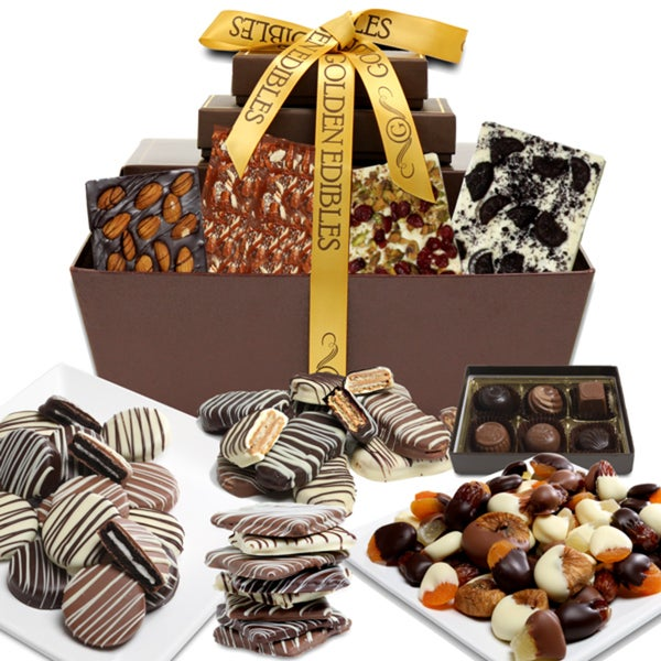 Chocolate Covered Company Colossal Artisan Crafted Chocolate Gift Basket