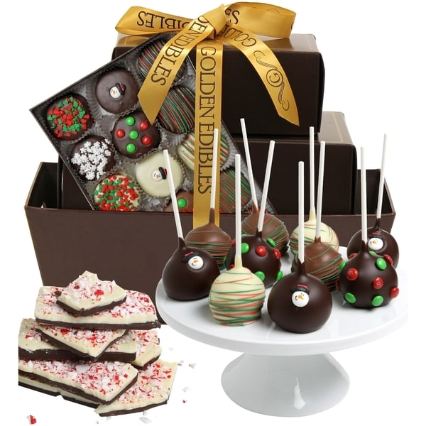 Spectacular Festive Belgian Chocolate Gift Basket (23 Pieces)