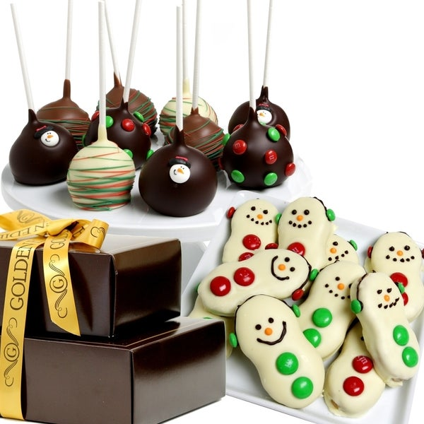 Snowman Chocolate Covered Treats Gift Tower (19 Pieces)