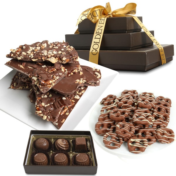 Milk Belgian Chocolate Sweet and Salty Gift Tower (8 Pieces)
