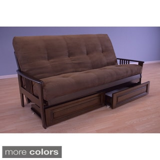 Christopher Knight Home Capri Espresso Suede Mattress/ Storage Drawers Futon