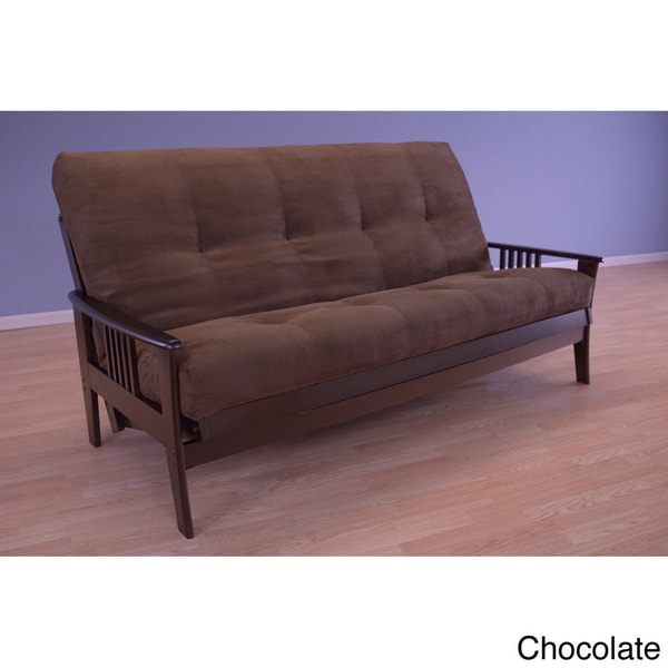 Christopher Knight Home Capri Espresso Suede Mattress Futon