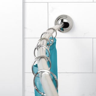 Zenna Home Adjustable Curved Tension Shower Rod - Chrome