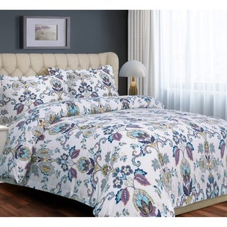 Paisley Flannel Luxury 3-piece Duvet Cover Set - Multi-color