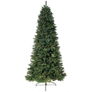 6-foot Prelit Artificial Eastwood Fir Slim Tree with 400 Clear Lights and Metal Stand
