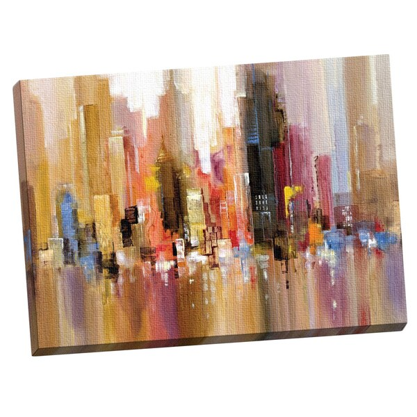 Canvas Decor 39 The Big City 39 Large Framed Printed Canvas Wall Art