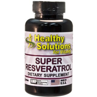 Healthy Solutions Super Resveratrol Capsules 60 Count (Pack of 2)