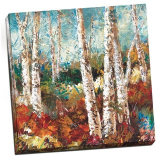 Portfolio 'Birch Sky II' Large Printed Canvas Wall Art