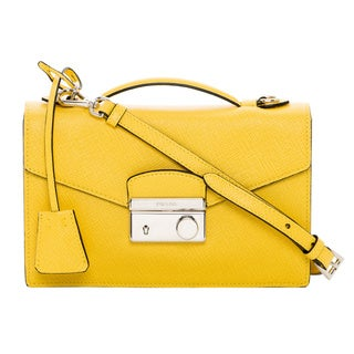 Prada Yellow Saffiano Leather Mini Bag