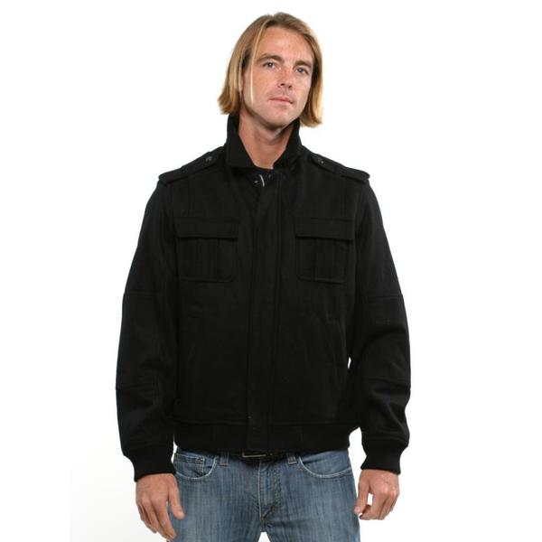Perry Ellis Men's Principles Black Zip Coat