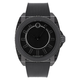 Movado Men's 0606363 Master Black Rubber Strap Watch