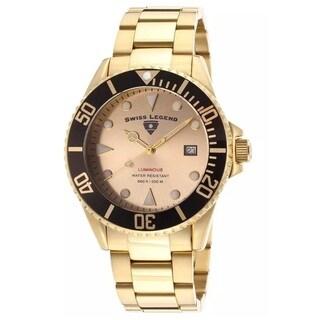 Swiss Legend Men's SL-21344-YG-10-BB Luminous Goldtone Watch